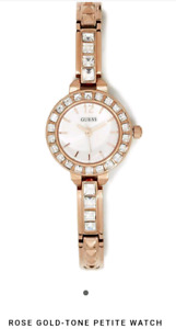 BNWT Rose Gold Petite Guess ladies watch
