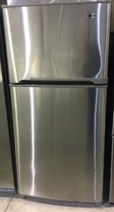 """LG stainless steel top mount 30""""Wx65.5""""Hx27""""D PRICE $499"""