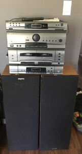Sanyo Sterio system + 2 large speakers. $120obo