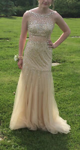 PROM Dress - Champaign Color - Beautifully Beaded