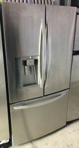 LG 36 inch SS Fridge French Door bottom freezer wat & ice $1499