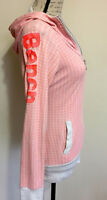 Bench Neon Pink / White Zip Up Hoodie - Large
