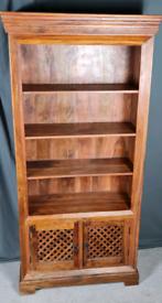 John Lewis Maharani Sheesham Jali bookcase x 2