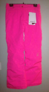 Spyder snowboard pants bubble gum pink. Girls Size 16 fit small