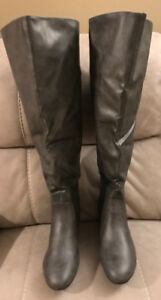New Over the Knee Grey Boots