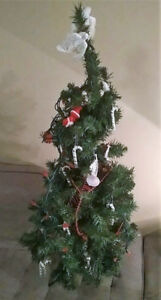 4 ft. Artificial Christmas Tree with Decorations and Lights