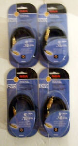 FOUR RCA 6 FT. DIGITAL AUDIO CABLES
