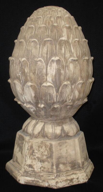 "Artichoke Finial 13"" Antique Decorative Statue Home and Garden Accent 36003"