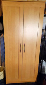 """Pantry with pine look (4 adjustable shelves) 30""""w x 16""""d x 73""""h"""
