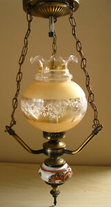 Lampe suspendue champêtre/Old-fashioned country-style Pendant