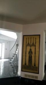Large Framed Art: Brass Rubbing