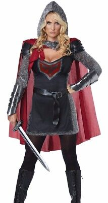 Medieval Costumes Female (Female Valorous Knight Costume Womens Medieval Game Thrones Brienne Tarth)