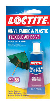 New 1oz Loctite Vinyl Fabric Plastic Flexible Clear Adhesive Leather Canvas Glue