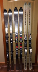 Downhill Carving Shaped Skis with Bindings in Crowsnest Pass