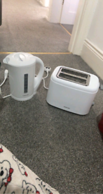 Kettle toaster and cannisters