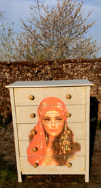 Unique gypsy chest of drawers