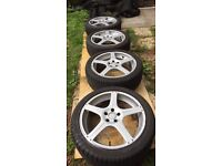 """19"""" alloy wheels with new tyres suit ford Volvo or jaguar"""