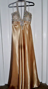 Gorgeous Gold gown with crystals