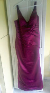 Berry Plunging Neckline Prom/Bridesmaid Dress