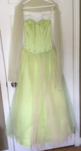 Lime green prom dress Size 0