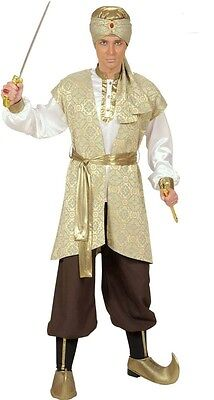 Prince Of Persia Costume (Deluxe Prince of Persia Aladdin Pantomime Arab Arabian Men's Fancy Dress)