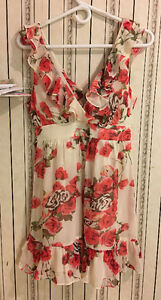 Red Rose Floral Dress, Size M, Brand New