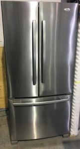 "SS French door bottom freezer 33"" Fridge Gold $899 Whirlpool"