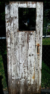 Antique Rustic Country Farm Decor Chicken Coup Door