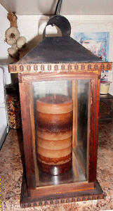 NEW PRICE-DECORATIVE WOOD LANTERN Kitchener / Waterloo Kitchener Area image 4