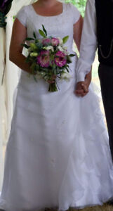 White wedding dress with sequence
