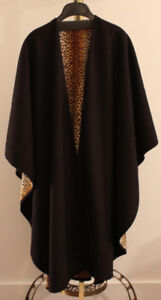 NEW Reversible Black and Leopard Print Poncho/Shawl - MUST GO!!