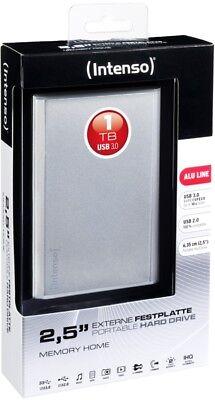Intenso HDD externe Festplatte Memory Home Alu Line 2,5 Zoll 1TB USB 3.0 silber