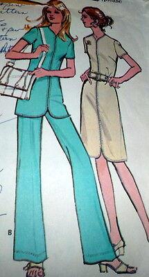 *LOVELY VTG 1970s DRESS & PANTS Sewing Pattern 16/38