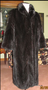 A mink tail coat in like new condition.