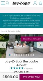 Lay-Z-Spa Barbados Air Jet. *Brand new!* Unused! Unopened! Hot tub.