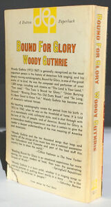 WOODY GUTHRIE - BOUND FOR GLORY paperback 1968 EP DUTTON Belleville Belleville Area image 4