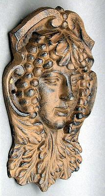 - Divine Spirit Deity Plant Face Dryad Wall Mask Art Sculpture Cast Iron Plaque