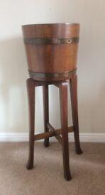 Vintage Oak Planter Stand