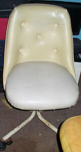 2 60's or 70's Art Deco style leather office Type Chairs