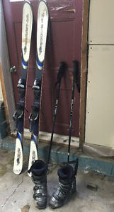 Rossignol Bandit B2 with Nordica boots, poles and boot bag.