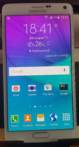 Excellent Condition Unlocked Samsung Galaxy Note 4 White 32GB.