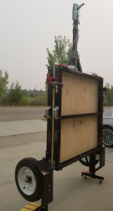 NEW, REGISTERED 8 x 4 foldable utility trailer with hitch. Ready