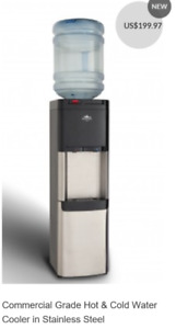 NEW GLACIAL HOT AND ICE COLD WATER COOLER