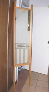Umbra Barely used full length Floor Mirror in solid wood frame