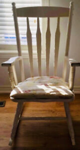 Solid Wood Rocking chair - FREE CUSHION - Home - Decor - Baby -