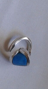 Sterling silver ring with blue turquoise