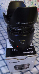 Canon EF 50 mm f/1.8 ll Wolfville area $90 with hood and filter