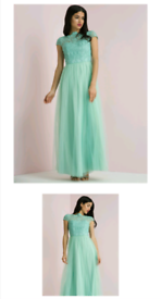 Chi Chi London Dress Bridesmaid Gown Prom Mint Green size 8