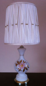 FROSTED GLASS LAMP MADE IN WEST GERMANY