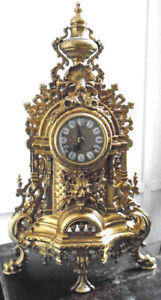 Gilded Brass Rococo Princely Clock